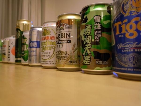 중국산 맥주들;
