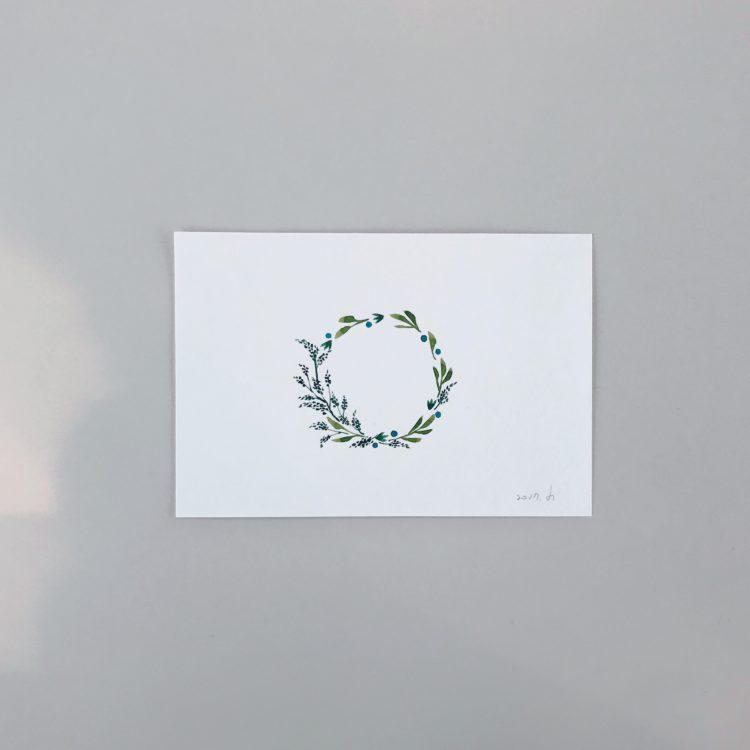 크리스마스리스 엽서 샘플