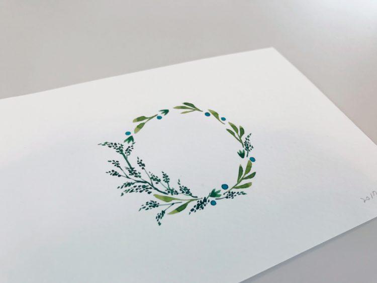 크리스마스 엽서, 리스의 자세한 모습