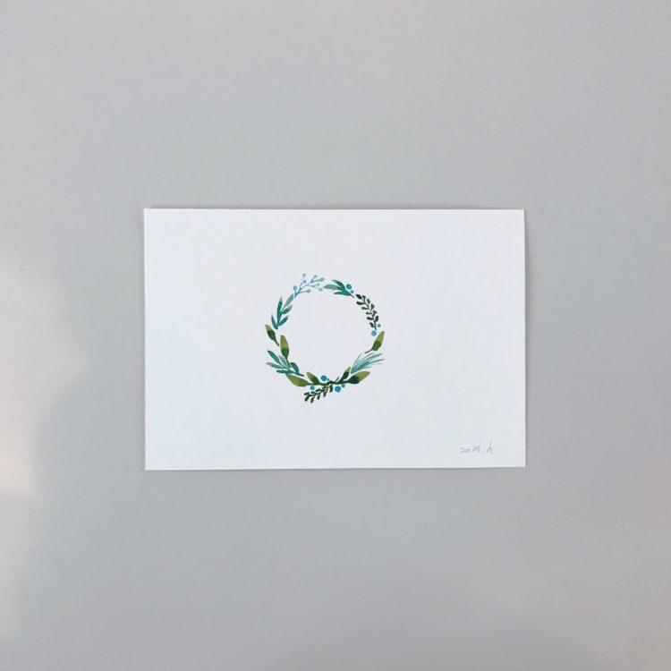 크리스마스 엽서 샘플